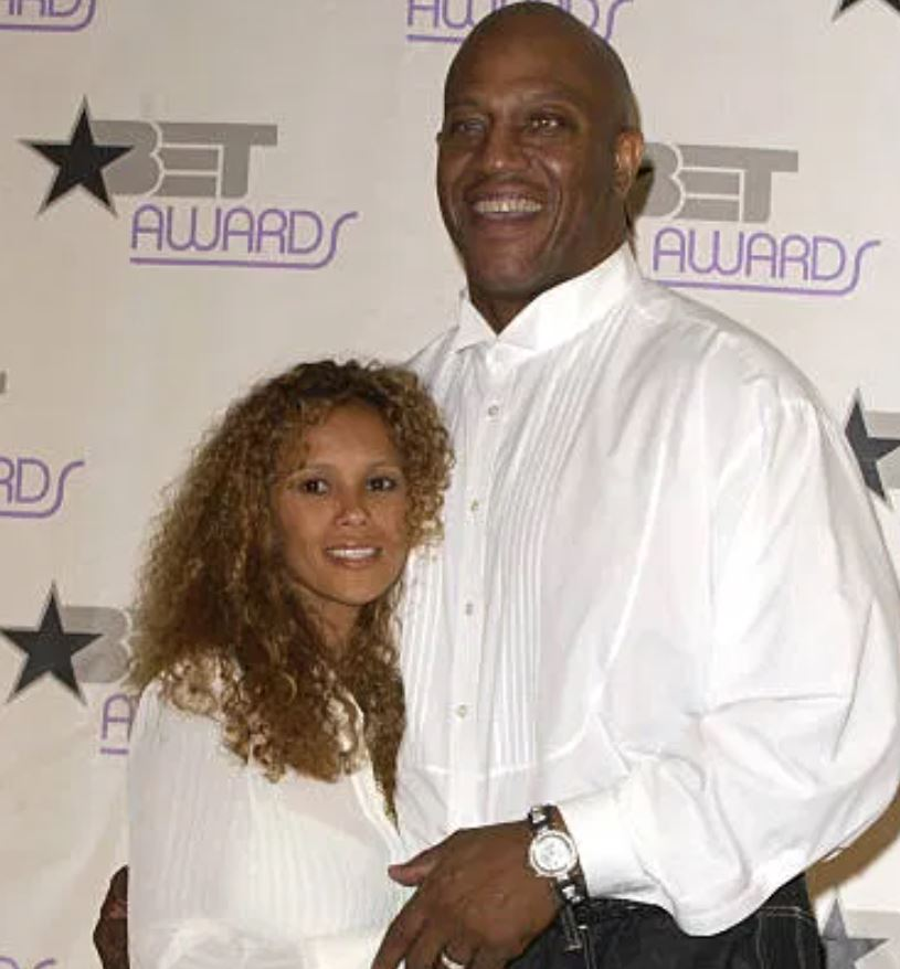 Felicia Forbes with husband