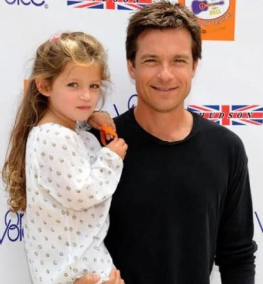 Francesca Nora Bateman with her father